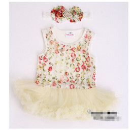 wholesales clothing cheap 2020 - 10%OFF 2015 NEW ARRIVAL!cheap sale baby girl Newborn Floral Princess tutu dress,cute dress children clothing,3pcs dress+