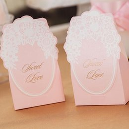 Sweet Anniversary Gifts NZ - Pink Color Wedding Candy Box Creative Wedding Event Favor Holder Anniversary Party Sweet Favors Paper Gift Box Wedding Decor