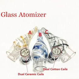 $enCountryForm.capitalKeyWord Australia - New Arrival glass ribbon atomizer Glass Atomizer Glass Vaporizer for eGo t Battery E Cigarettes E Cig Cartomizer Dry Herb Wax Vaporizer