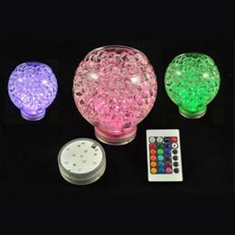 Luci subacquee a 10 LED RGB della lampada della decorazione della piscina del vaso sommergibile telecomandato impermeabile per la decorazione del partito di festa di nozze