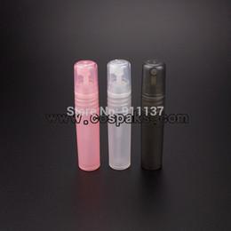 Crystal Bottles Canada - PB-5ml natural black pink perfume bottle with pump , 5ml spray perfume bottles