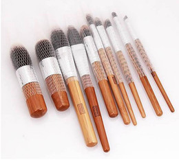 Wholesale 10pcs set White Make Up Cosmetic Brushes Guards Most Mesh Protectors Cover Sheath Net Without Brush EMS