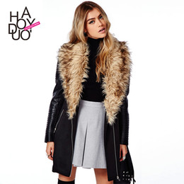 Discount Trench Coats For Women Fur Collar | 2017 Trench Coats For ...