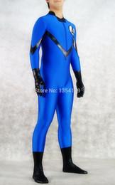 $enCountryForm.capitalKeyWord Canada - Light Blue Fantastic Four Human Torch superhero costume for Halloween Party Cosplay Zentai Suit