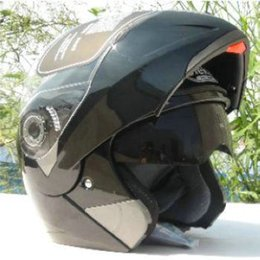 Ran Helmet Canada - Wholesale-JK-105 motorcycle helmet open face ABS material arai Double lens JK105 helmet cool running shoei helmet Genuine JK105 helmet