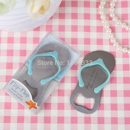 Discount wedding thongs - Personalised Gift Boxed Thong Bottle Opener Beach Wedding Favour Bomboniere Great Gift can print logo FREE SHIPPING 0915