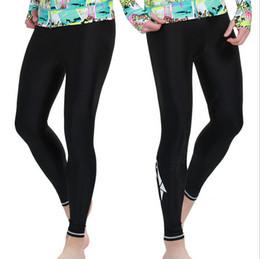 $enCountryForm.capitalKeyWord NZ - Wholesale-Black Leggings Summer Mens Windsurfs Sailing Long Bodybuilding Trunks Size S-XXXL Sbart UPF 50 Lycra Rash Swimming Pant #004