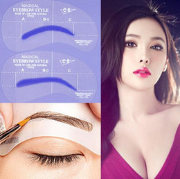 stencil eyebrows kit 2019 - 24 Styles Grooming Brow Painted Model Stencil Kit Shaping DIY Beauty Eyebrow Template Stencil Make Up Eyebrow Styling To