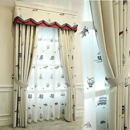 Good American Style Cartoon Children Curtain Shade Living Room Bedroom Small And  Fresh Car Boy Fall To The Window Roman Curtain
