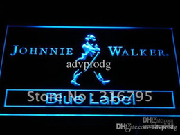 Discount johnnie walker signs a147-b Johnnie Walker Blue Label Bar NR Neon Light Sign