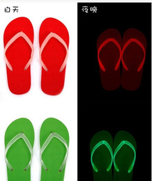 $enCountryForm.capitalKeyWord Canada - 40pairs Women luminated sandals Beach Men Flip Flops Leisure Lovers Slippers Pinch Babouche fluorescence Chinela Sandal