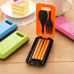 $enCountryForm.capitalKeyWord Canada - 4 Colors Outdoor Travel Picnic Tableware Set Separable Spoon Fork Chopsticks Protable ABS Plastic Camping Picnic Necessity Kit