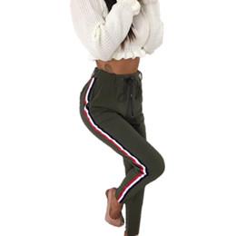 5fd8f63e057 Оптовая продажа-основные женские брюки высокой талией осень рабочая одежда  для женщин лодыжки длина тела Slim Fit брюки перемычка трек WS3732Z
