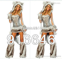 wholesale 2015 new cat women wolf cosplay costumes for halloween dress up clothes sexy wolf costumes europe game server free shipping - Free Halloween Dress Up Games