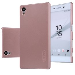 China 100% Original Nillkin Frosted Shield Hard case for Sony Xperia Z5, Z5 compact, Z5 Premium with screen film protection free shipping suppliers