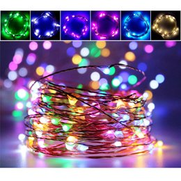 christmas decorations led holiday style color lamp string custom copper waterproof christmas decoration lamp battery1 meters 10 lights