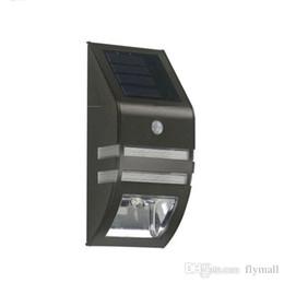 patio walls 2018 - Bright Solar Powered Motion Sensor Light Street Light Outdoor Light Security Light For Patio Deck Yard Garden Home Stair