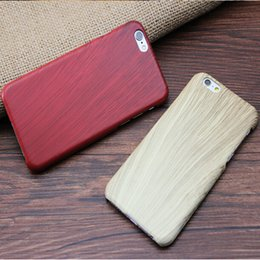 $enCountryForm.capitalKeyWord Canada - Hot sale Eco-friendly Wood Grain Case Original Ecology Shockproof Hard PC Wooden phone shell Back Cover for iphone 5 5S 6 6S plus