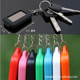 $enCountryForm.capitalKeyWord Canada - Free Shipping Cute Model Solar Power Keychain LED Flashlight Light Lamp Mini Key Chain 3 LED Multi-color Rechargeable
