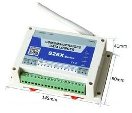 Remote Data Canada - GSM GPRS remote wireless 4 analog inputs data logger S262 monitoring status include temperautre, flow, power status, PH