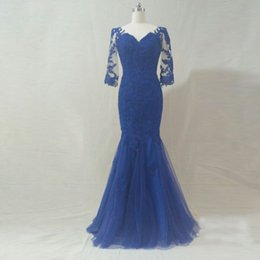 $enCountryForm.capitalKeyWord Australia - Real pictures High quality royal blue mermiad evening dresses 2019 floor-length half sleeve formal evening gowns for women free shipping