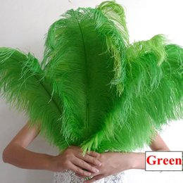 "green ostrich feather centerpieces Australia - 45-50cm Ostrich Feather 10pcs Green Ostrich Feather 18-20"" Table Centerpieces For Wedding Table Centerpieces Party Decoration Performance"