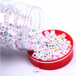 $enCountryForm.capitalKeyWord Canada - 1000 pcs White & Coloured Alphabet Mixed Letters Cube Beads 6mm good for baby DIY craft free shipping