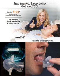 Wholesale AveoTSD Mouth Anti Snoring Device Snore Stopper Sleep Apnea Aid Health Care Provide Breathe Right and Better Breath Condition