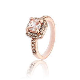 China Mixed Styles Luxury 18k Solid Gold plated crystal Zircon Gemstone Ring Gold engagement wedding lovers couple Ring semi mount ring pear ZR106 suppliers