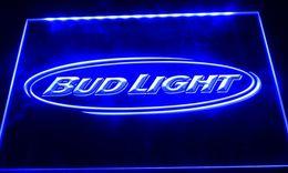 LS035-b bud light beer bar pub club nr segni di luce al neon