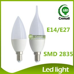 chandelier candle bulbs 2019 - LED Candle Light LED Bulb Light Chandelier 6W 500lm Led Candle Bulb Chandelier bulbs E14 E27 Led Candle Bulb Led Lamps E
