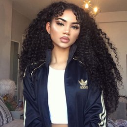 $enCountryForm.capitalKeyWord NZ - Cheap!!100% Kinky Curly Brazilian Virgin Hair Lace Front Wig & Full Lace Wig Natural Hairline Human Hair Wigs For Black Women