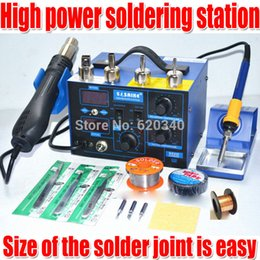 2018 rework hot air solder Free shipping Saike 952D Hot Air Gun + Soldering Iron 2in1 Power 760W BGA rework station welding table ,Many gifts order