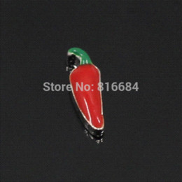 coin locket pendants Canada - Free Shipping !! (20pcs lot) Hot floating Chili Locket Plate Charm,Floating Charms Lot For Your Choose Charms