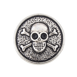 $enCountryForm.capitalKeyWord UK - NSB2456 Hot Sale Snap Buttons Jewelry 18mm Buttons Fashion DIY Charms Crystal Gold Plated Antique Skull Design Snaps Buttons