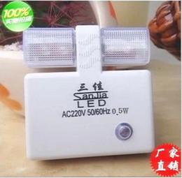 AC100-240V LED Luces nocturnas con luz de sensor Lámparas LED con enchufe CHN Lámpara de bebé Enchufe de conversión de la UE de cortesía Envío gratis en venta