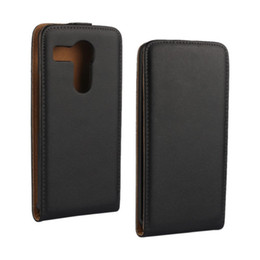 Lg Nexus Leather Case UK - Black Genuine Leather Flip Case Cover with Magnetic Closure Up and Down Phone Case For LG Nexus 5X