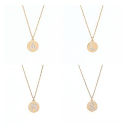 Gold circle initial pendant necklace suppliers best gold circle chinese 12pcs lot new women fashion jewelry letter necklace monogram gold initial letter necklace crystal letter mozeypictures Choice Image