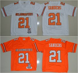dd1a6b43e Cheap Oklahoma State Jersey 21 Barry Sanders NCAA College football jerseys  Mix Order ! oklahoma state ...