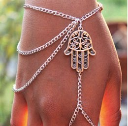 $enCountryForm.capitalKeyWord Canada - Fashion Jewelry Bracelets Asymmetric Women Hamsa Fatima Bracelet Finger Ring Slave Chain Hand Harness Jewellery Chains Charm Bangle Free DHL
