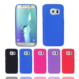 Cell Phone Cases For Samsung Galaxy Canada - Hot Sale Best Quality Ultra Thin Solid Color Soft TPU CELL PHONE CASE Anti-knock For Samsung Galaxy S7 Edge
