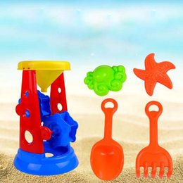 $enCountryForm.capitalKeyWord Canada - Children baby summer beach hourglass toys 5 sets of toys kids plastic colorful beach sand gifts toys set
