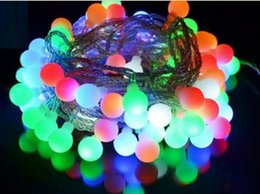 Discount small led balls - 50M 300 leds small lantern ball lamp lighting lamps Christmas wedding holiday decorations outside star pendant lamp seri