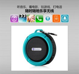 Shower Iphone Speaker NZ - C6 IPX7 Outdoor Sports Shower Portable Waterproof Wireless Bluetooth Speaker Suction Cup Handsfree MIC Voice Box For iphone 6 iPad PC US08