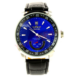 $enCountryForm.capitalKeyWord Australia - Fashion Winner Leather Band Stainless Steel Skeleton Mechanical Wrist Watches For Men Mechanical hand wind Luxury WristWatch