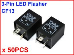 $enCountryForm.capitalKeyWord Canada - 50PCS CF13 JL-02 LED Flasher 3 Pin Electronic Relay Module Fix Car Motor LED SMD Turn Signal Light Error Flashing Blinker 12V 0.02A TO 20A
