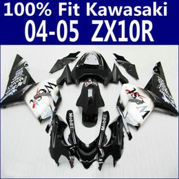 Abs Australia - Injection molding bodykits for Kawasaki fairings ZX 10R 2004 2005 black white West ABS fairing kit 04 05 ZX10R LP7