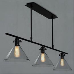 Filament bulb pendant lights online shopping - Modern Meridian Transparent Glass Chandelier Edison Light Bulb Funnel Pendant Lamp head RH CLEAR GLASS FUNNEL FILAMENT PENDANT LIGHTING