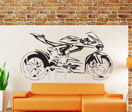 Chinese  DUCATI PANIGALE MotorCycle Wall Sticker Home Decor Accessories Vinyl Mural Self Adhesive Motorbike Wall Decal For Boys manufacturers