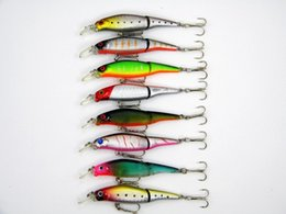 Two Basses Canada - New 2 segment crankbait bass saltwater Fishing Lures 9.2cm 7.5g 8color ABS Plastic two Jointed hard bait